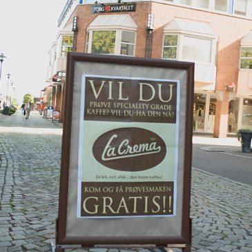 Lansering: La Crema Kaffe i Horten Norge