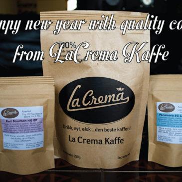 Happy and caffeinated 2016 from La Crema Kaffe!