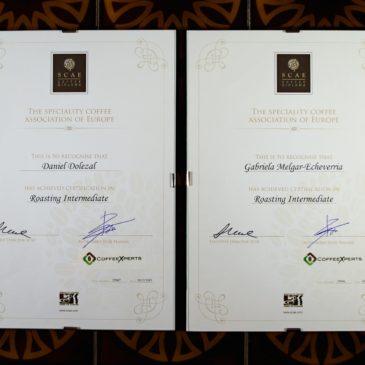 SCAE Roasting Intermediate certificates for La Crema Kaffe!